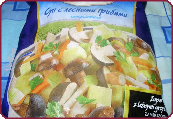 сырный суп с грибами, смесь